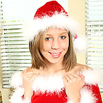 Nubile teen chastity was a good girl this year so santa left her a red dildo to stuff up her tender snatch.